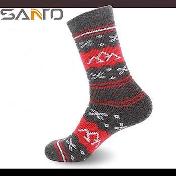 山拓Santo美麗諾羊毛襪保暖襪中長筒襪登山襪 S033 (男女通用.加厚款)