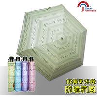 皮爾卡登 輕量抗UV自動開收雨傘-蘋果綠