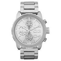 DIESEL 忍者戰將時尚計時腕錶-銀/42mm DZ5301