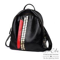 DF Flor Eden - 歐系時尚款六角鉚釘牛皮後背包