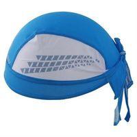 【米蘭精品】自行車頭巾抗UV運動頭巾時尚狂瀾藍白拼接73fo51