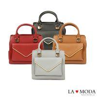 La Moda 模特兒街頭必備單品信封式前袋肩背手提兩用包 (共4色)