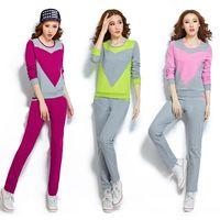 【A3】韓版顯瘦-薄款兩件套裝長袖休閒運動服(螢光綠/粉色/桃紅色)M-XL