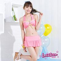 【LOVETEEN夏之戀】甜心粉比基尼三件式泳衣-A15701+02 粉