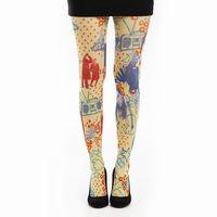英國進口義大利製【Pamela Mann】音響搖滾印花彈性褲襪