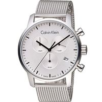 Calvin Klein K2G city 都會系列米蘭時尚計時腕錶 K2G27126 白