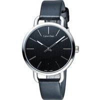 ck Calvin Klein K7B even 系列 頁岩自然風格時尚腕錶 K7B231C1 黑
