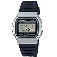 【CASIO】 運動小子電子錶-黑x銀框 (F-91WM-7A)