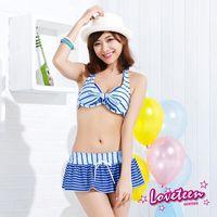 【LOVETEEN夏之戀】藍精靈比基尼三件式泳衣A15707