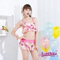 【LOVETEEN夏之戀】浪漫花卉短版三件式泳衣A15716