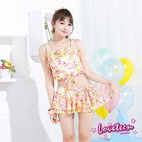 【LOVETEEN夏之戀】甜美花卉短版三件式泳衣A15736