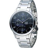 ALBA 雅柏 街頭酷流行系列時尚三眼計時腕錶 VD57-X079D AM3335X1