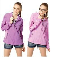 【SAMLIX山力士】女 抗UV 輕薄 休閒 風衣 外套#WJ625(深紫.淺紫)