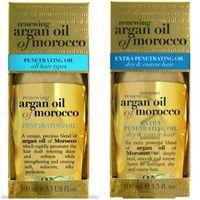 美國 Ogx Argan Oil of Morocco 摩洛哥堅果油護髮油(免沖洗)-一般+加強修護受損髮(3.3oz/100ml)*2