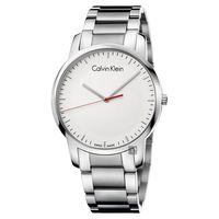 Calvin Klein CK City 極簡都會腕錶-白/43mm K2G2G1Z6