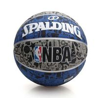 【SPALDING】NBA 塗鴉系列 斯伯丁籃球-戶外 運動 灰藍黑