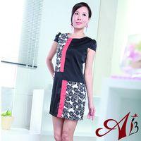 【A3】優雅絲質質感印花洋裝M-XL