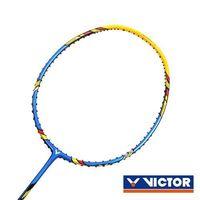 【VICTOR】突擊羽球拍-4U-勝利 羽毛球拍 空拍 藍黃