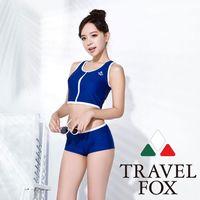 【夏之戀TRAVEL FOX】大女活力短版兩件式泳裝C16723