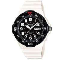 【CASIO】 潛水風DIVER LOOK指針錶-白/黑面 (MRW-200HC-7B)