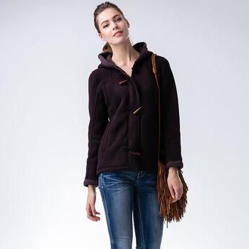 JORDON   POLARTEC Classic 300女款珍珠刷毛牛角扣外套