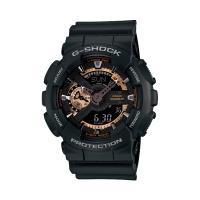 【CASIO】G-SHOCK 染金炫彩新重機裝置Man概念錶-黑 (GA-110RG-1A)