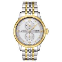 TISSOT 天梭 LE LOCLE 力洛克雅仕機械腕錶-銀x雙色版/40mm T0064282203802