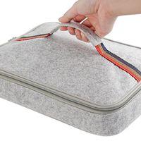 PUSH! 餐具用品保溫飯盒便當盒保溫提袋1入(大號)