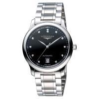 LONGINES Master 巨擘大三針真鑽機械腕錶-黑/38mm L26284576