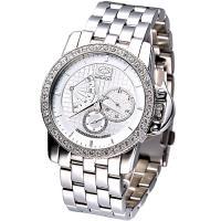 MARC ECKO 雅爵星期逆跳3環晶鑽腕錶(二件式錶框限量版)E18504G1