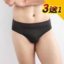 源之氣 竹炭無縫男三角褲(3+1件) RM-20033 -台灣製
