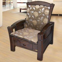 【凱蕾絲帝】木椅通高支撐加厚連體L型坐墊(4入)-里昂玫瑰咖啡
