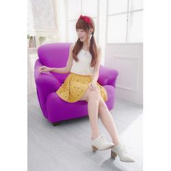 Osun-一體成型防蹣彈性沙發套/沙發罩_1人座 素色款 薰衣紫