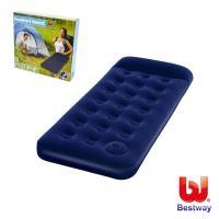 Bestway 單人高級植絨充氣床墊(內置充氣幫浦)73X30X8.5