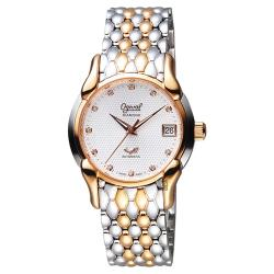 Ogival愛其華 旗艦復古機械腕錶 銀x雙色 34mm 1950AJBSR
