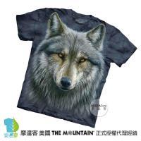 【摩達客】(預購)美國進口The Mountain 勇戰之狼 純棉環保短袖T恤