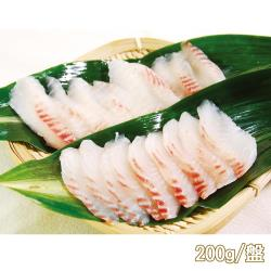 任-新鮮市集 嚴選鮮切-真空鯛魚涮涮火鍋片1盤(200g/盤)