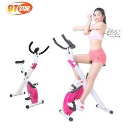 GTSTAR 居家型可摺式健身車-可愛粉