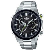 【CASIO】EDIFICE 強悍科技城市重量級賽車電波錶-黑框 (EQW-T640YDB-1A)
