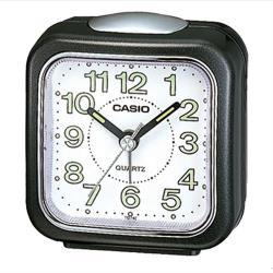 【CASIO】微型照明輕便型鬧鐘-黑 (TQ-142-1)