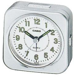【CASIO】 桌上型指針鬧鐘- 銀色 (TQ-143S-8)
