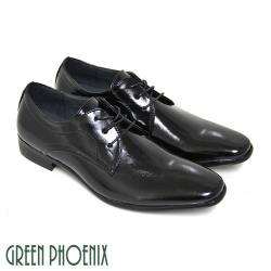 GREEN PHOENIX 素面質感亮面綁帶商務/紳士皮鞋(男鞋)T59-10182