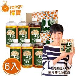 橘寶頂級精華超濃縮多功能洗淨劑300ml×6入(含專用噴頭x2)
