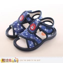 魔法Baby 男童鞋 耐磨外出涼鞋~sk0158