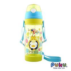 任-PUKU藍色企鵝 動物萬花筒Tritan水壺550ml-芥茉黃