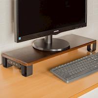 莫菲思【百變王】USB防潑水木質螢幕置物架