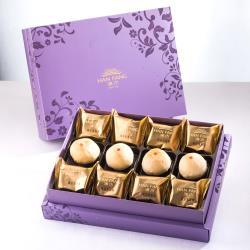漢坊 臻饌禮盒-3盒組(鳳梨酥+綠豆小月餅 綜合12入)紫