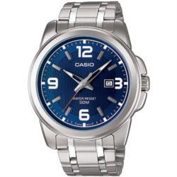 【CASIO】品味城市優雅紳士錶-藍 (MTP-1314D-2A)