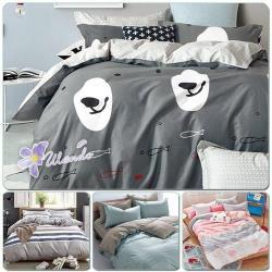 【Ulando】時尚好眠(多款花色可選)加大精梳棉四件式被套床包組