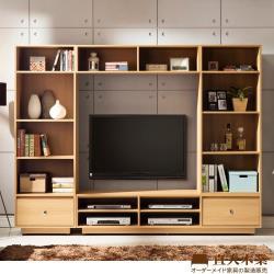 【日本直人木業】LEON簡約240CM收納電視牆